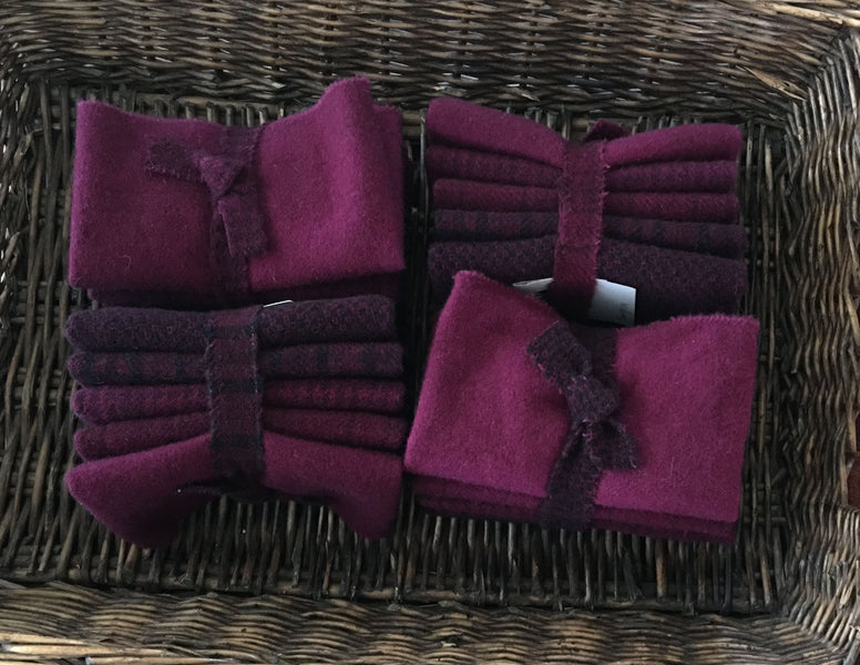 SANGRIA: 4-pack Hand Dyed Wool Bundle