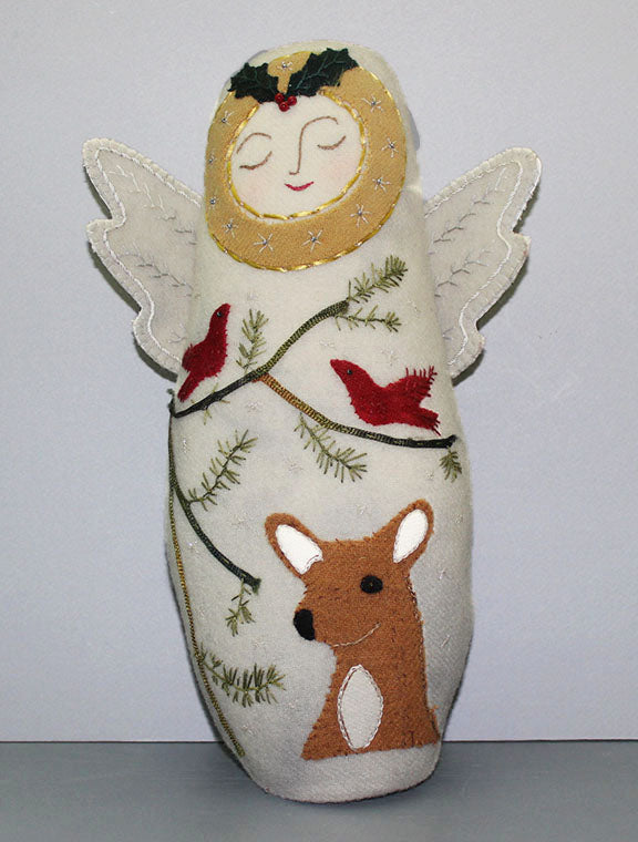 Winter Angel Wool Applique Digital Pattern