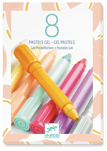 8 PASTELLI GEL SUPERMORBIDI - colori pastello