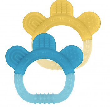 2 PZ TEETHER PAW - mordicchio (Giallo e Blu)