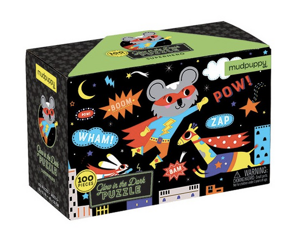 PUZZLE GLOW IN THE DARK -supereroi