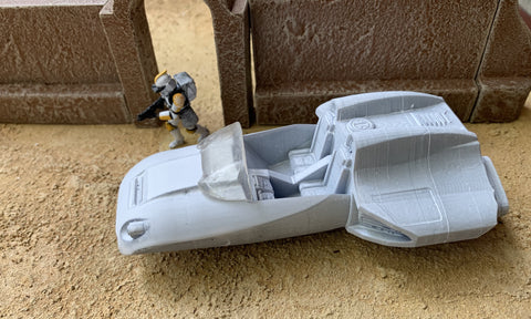Sci-Fi Heavy Duty Air Speeder (printed)