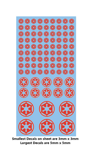 Decal - Imperial markings (red)