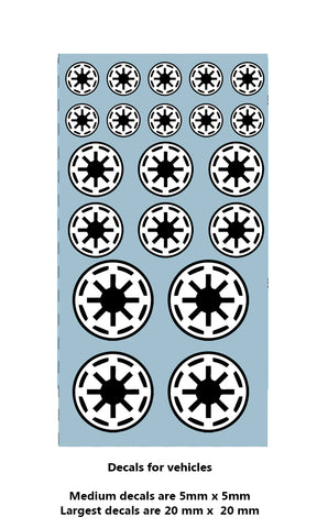 Decal -Republic Vehicle markings (black on white field)