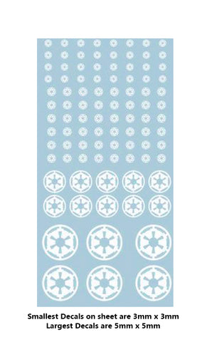 Decal - Imperial markings (white)