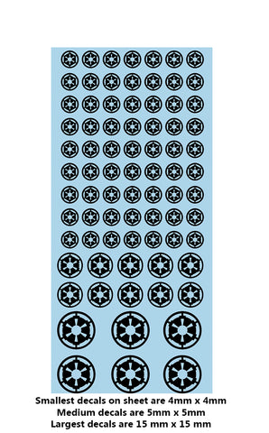 Decal - Imperial markings (black)