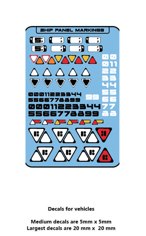 Decal - Space Craft Generic Markings