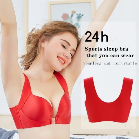 Front Button Sports Sleep Bra