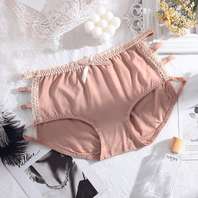 [BUY 3 GET 6] Women's lace cotton panties
