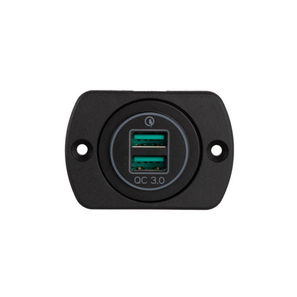 29mm Panel Mount QC3.0 Quick Charger Dual USB