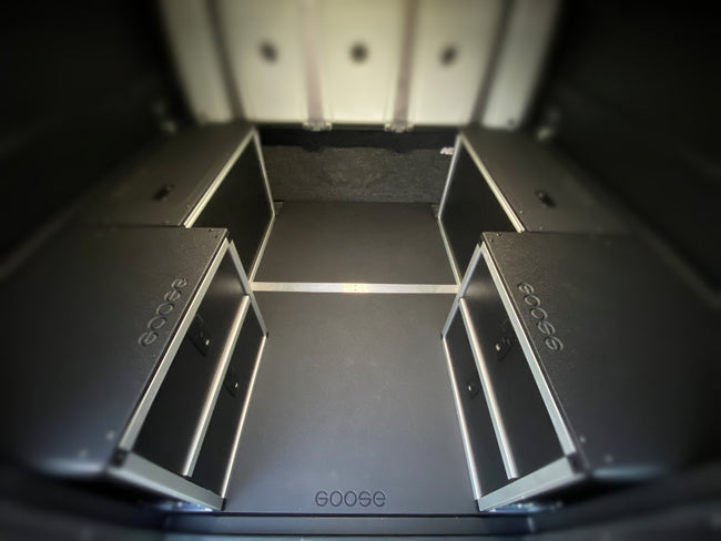 Alucab Canopy Camper Version 2.0 Full Width Module Mounting Plate Toyota Tacoma 5' Bed 2005-Present 2nd and 3rd Gen