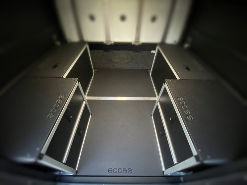 Alucab Canopy Camper Version 2.0 Universal Module Mounting Plate Toyota Tacoma 5' Bed 2005-Present 2nd and 3rd Gen