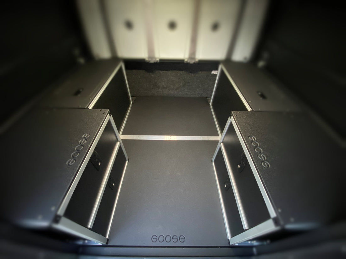 Alucab Canopy Camper Version 2.0 Full Width Module Mounting Plate Chevy Colorado / GMC Canyon 5' Bed 2015-Present