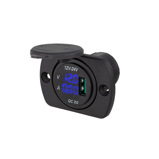 29mm Panel Mount USB + Volt Meter