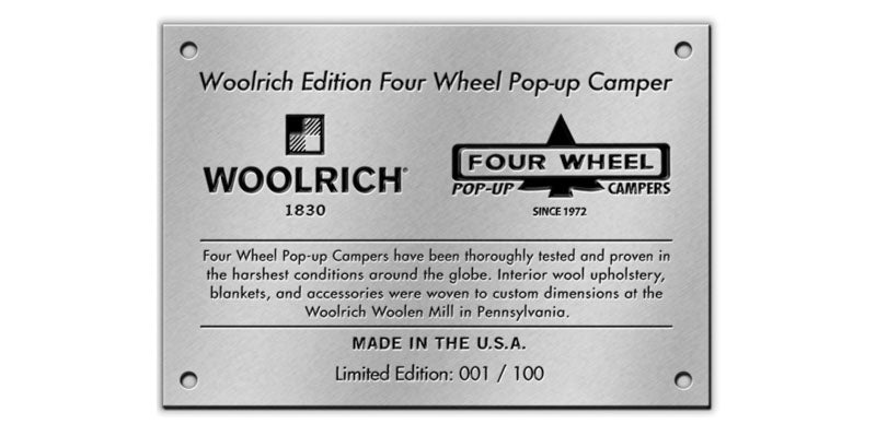 Woolrich Limited Edition Slide In Camper