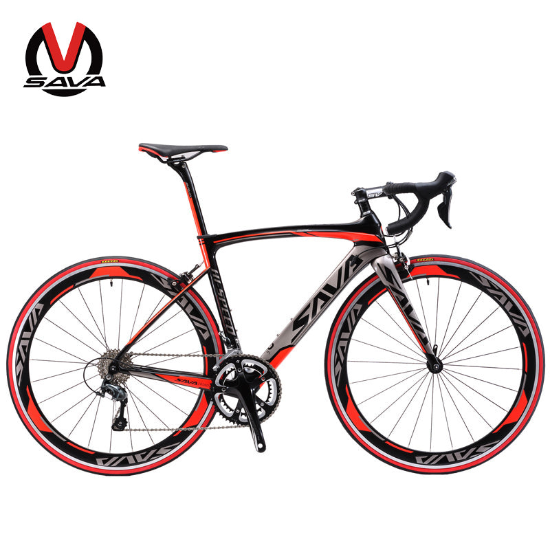 SAVA 700C Carbon Fiber Road Bike 18 Speed SHIMANO SORA M3000