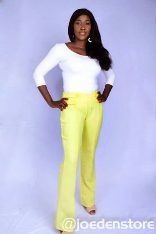 Buttoned Pant Trouser
