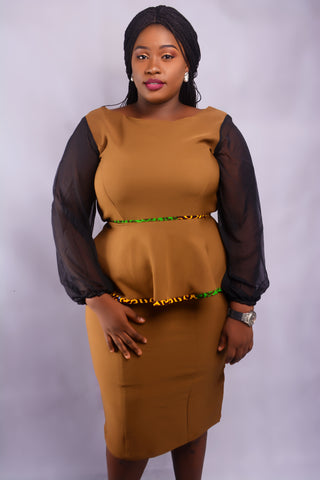 JOEDEN Princess Dart Plus Size Dress
