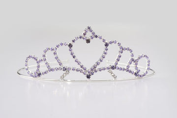 Princess Heart Tiara Lavender