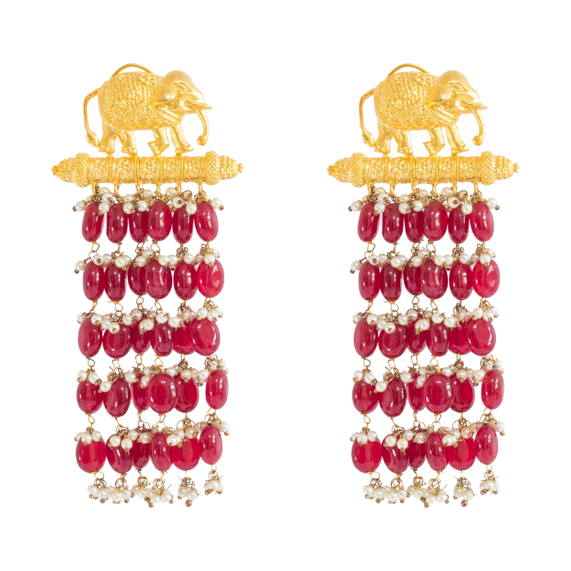 GAJJ JHOOMAR EARRINGS