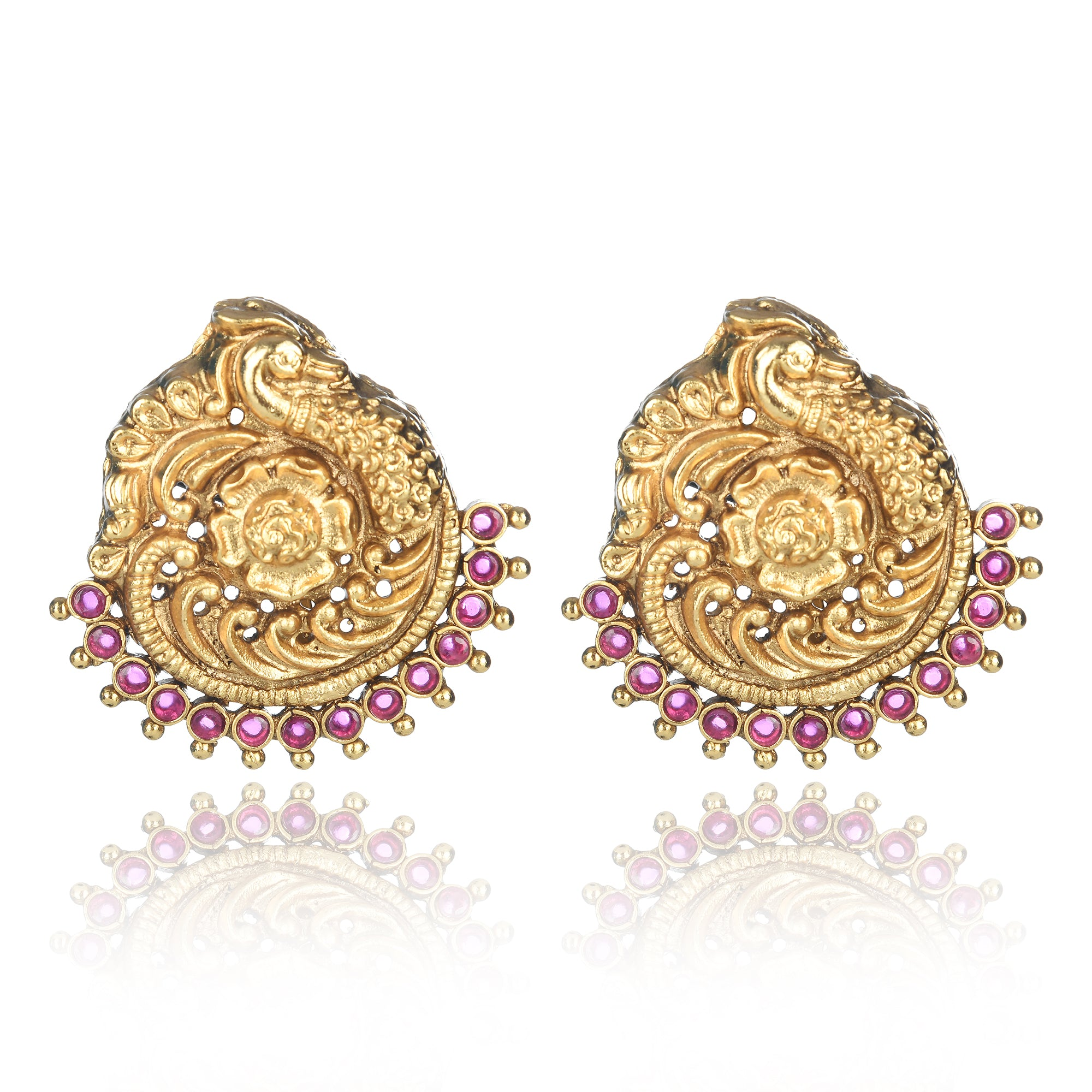 GOLD PLATED TEMPLE STUDS