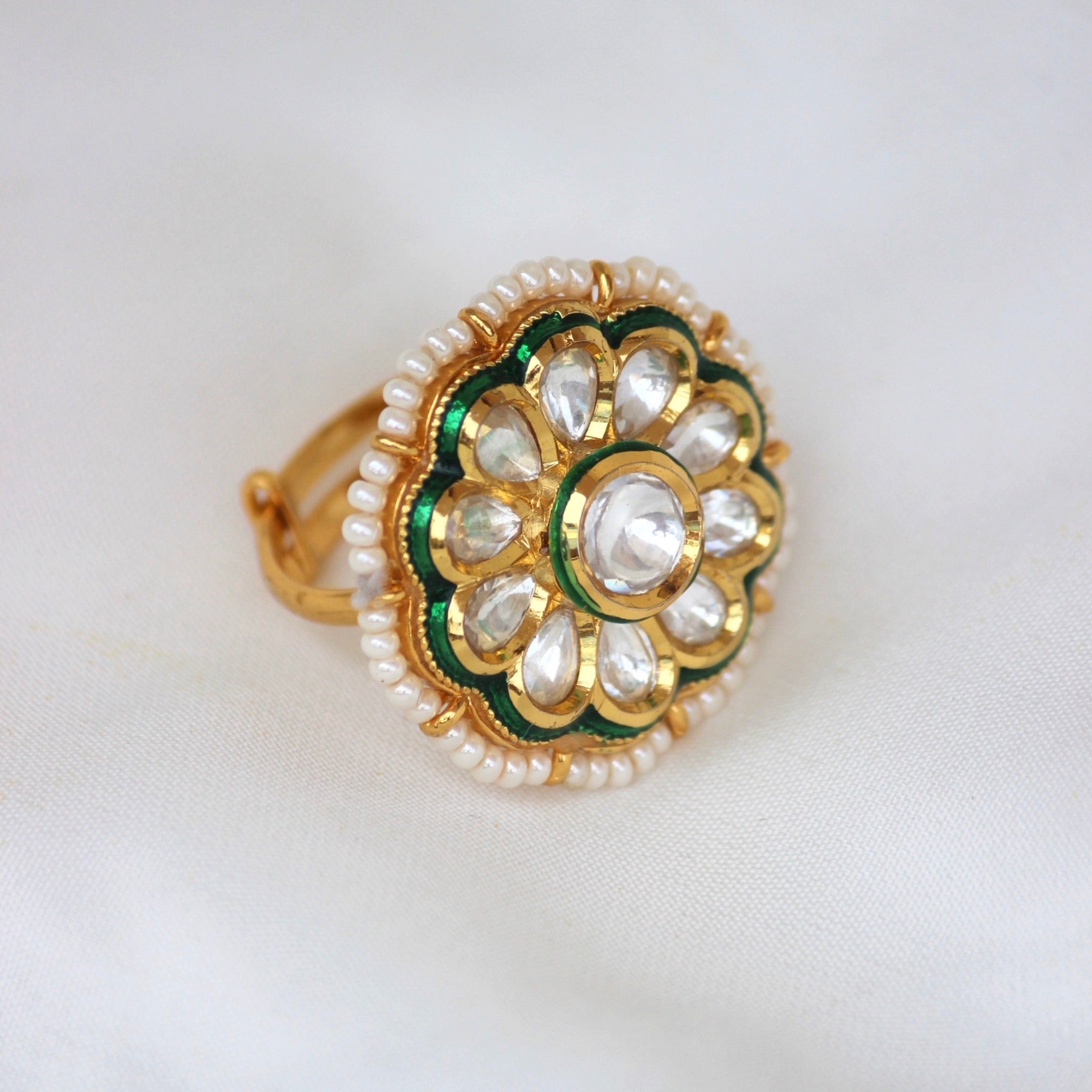 KUNDAN FLOWER RING
