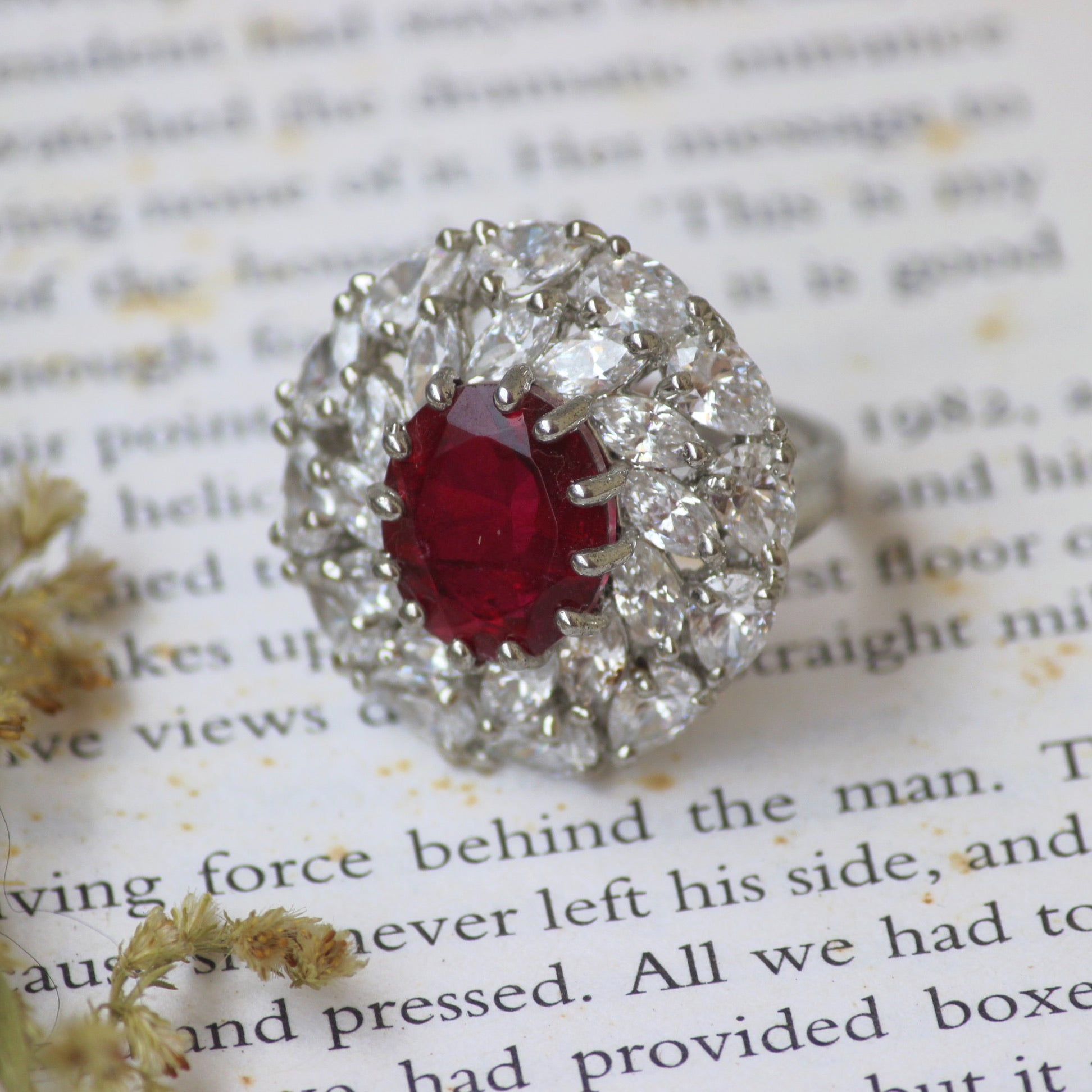 SWAROVSKI & RUBY RING