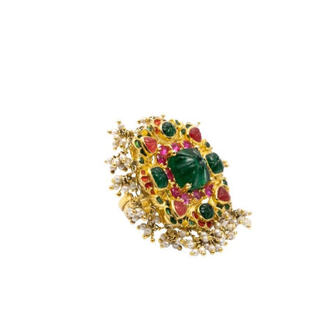 COCKTAIL RING WITH SEMI-PRECIOUS STONES