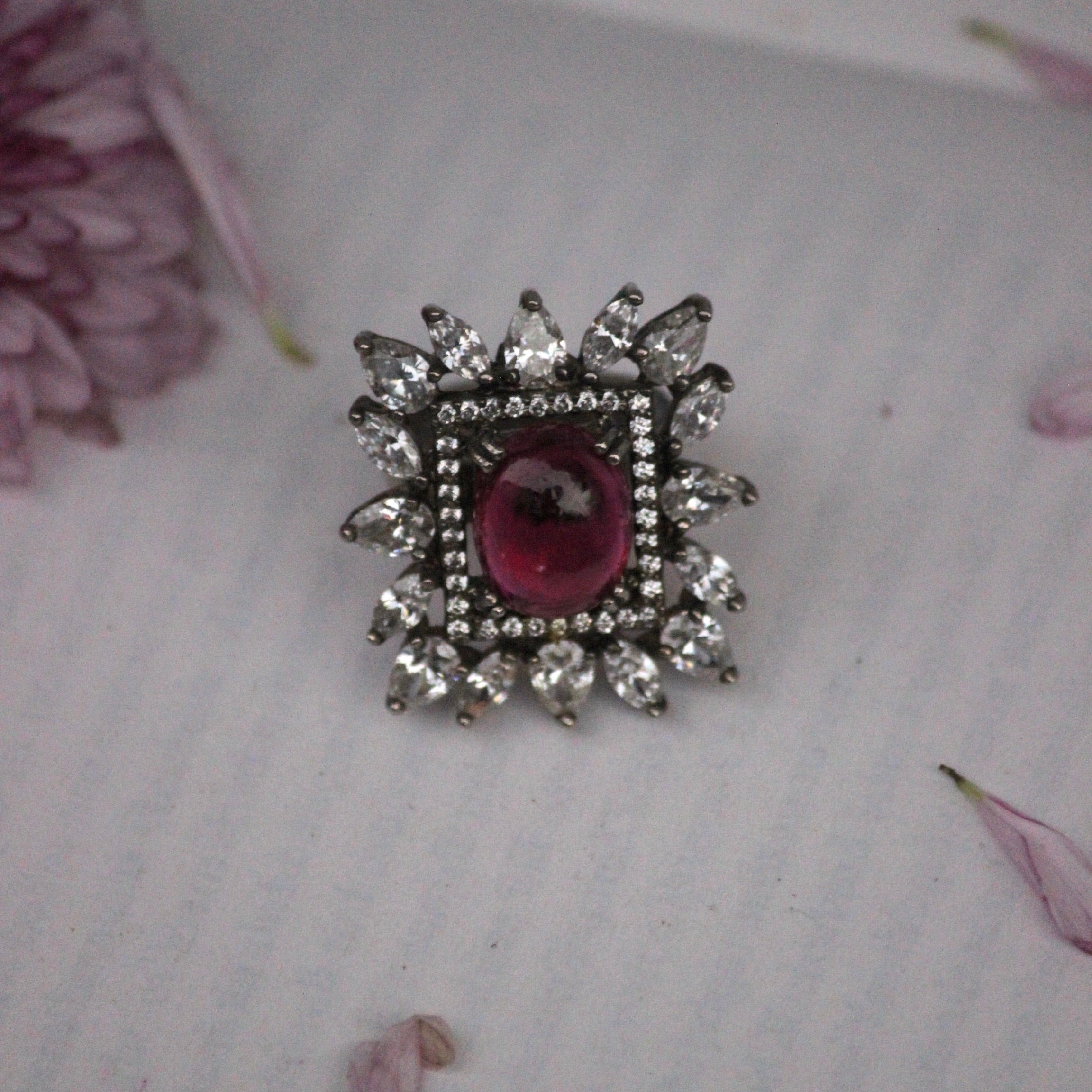SQUARE RUBY RING