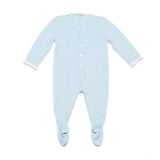 Light blue onesie with knots details