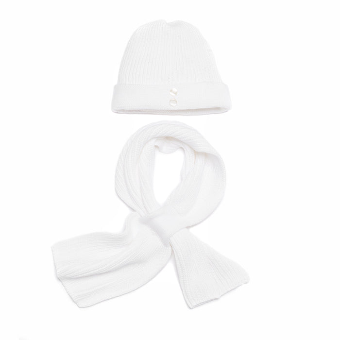 White Knitted Cotton Scarf
