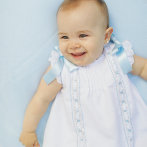 "White and blue""Margarita"" girl dress"