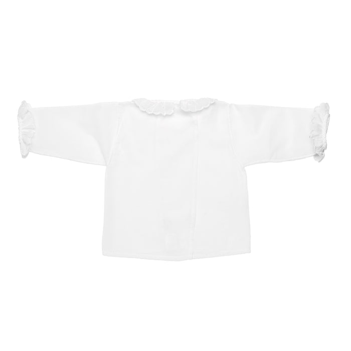 White newborn batiste shirt