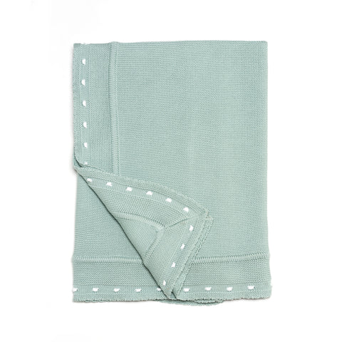 Aqua Knitted Cotton Blanket (33.5