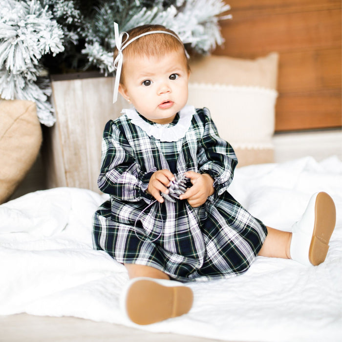 Plaid viyella Christmas dress