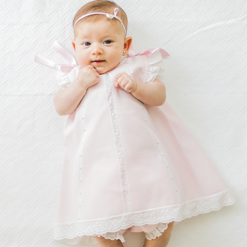 "Pink baby girl ""Milagros"" dress"