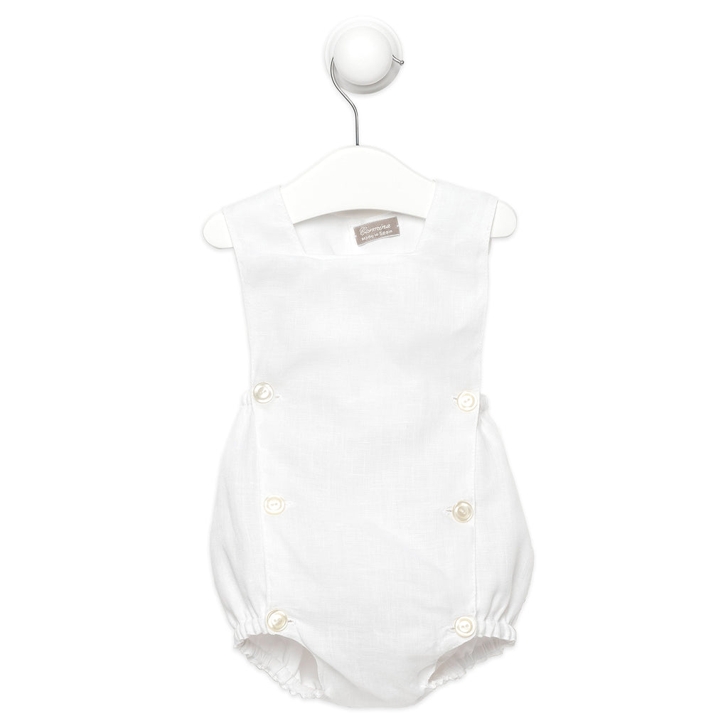 bc4173ea17fa White Linen Romper Luxury Baby clothing Handmade in Spain – TOT A PORTER