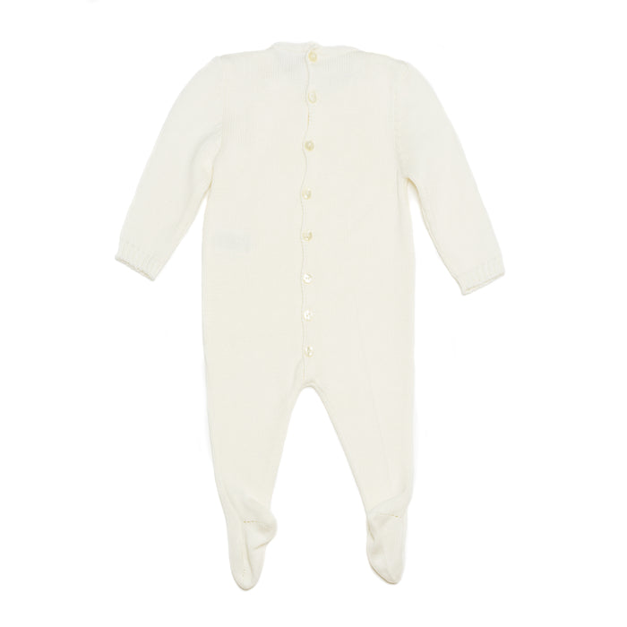 Ivory onesie with lace bib