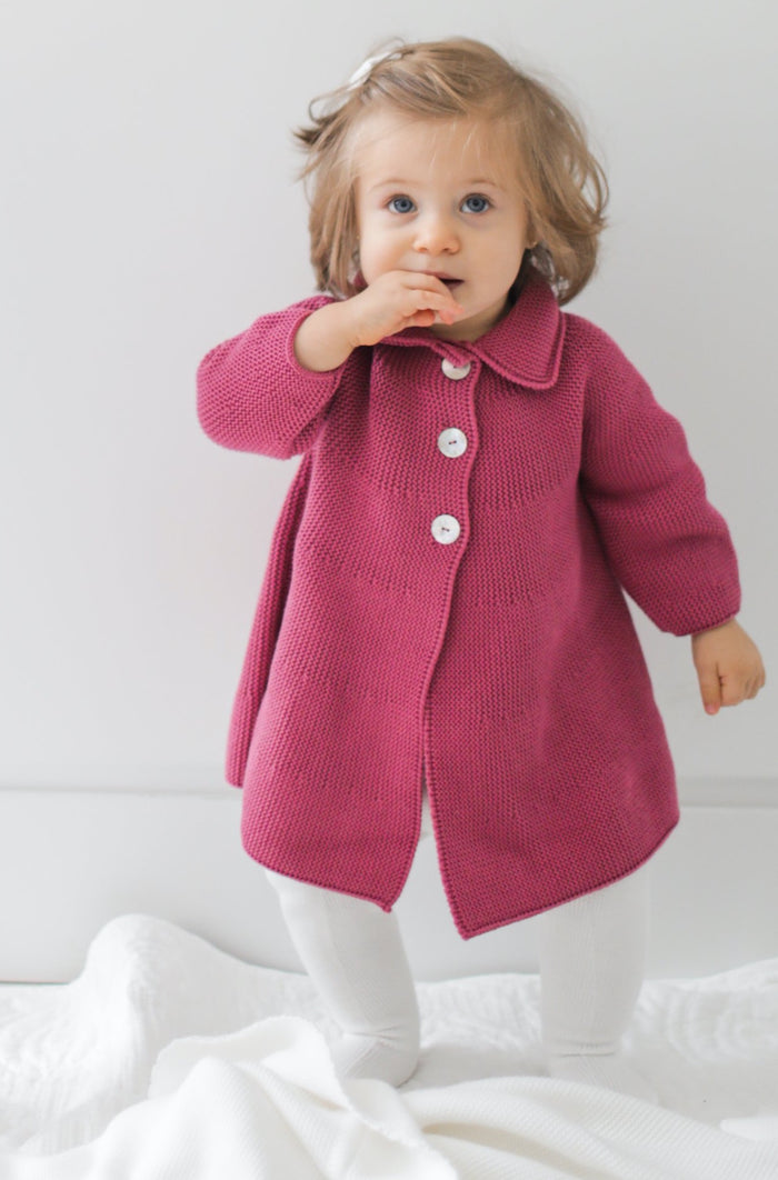 Knitted Pink Baby Girl Jacket