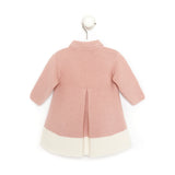 Pink and ivory baby girl knitted jacket