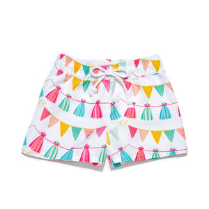Boy Swimsuit in Pom Poms Print