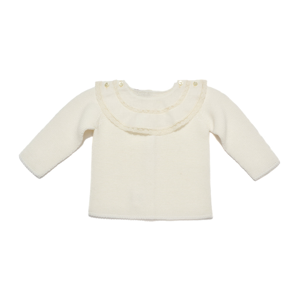 Ivory Baby Boy & Girl 2 Piece Knitted Sweater and Leggings Set