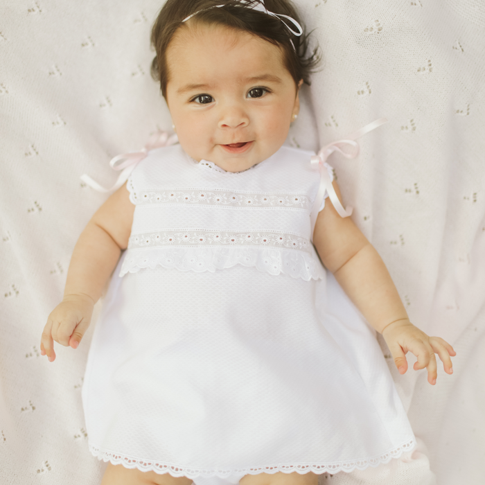 "White newborn ""Maria"" dress"