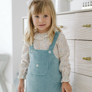 Baby girl dungarees dress set