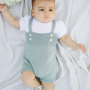 "Light green ""Santander"" baby boy set"