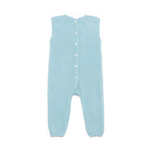 Ocean blue sleeveless baby suit