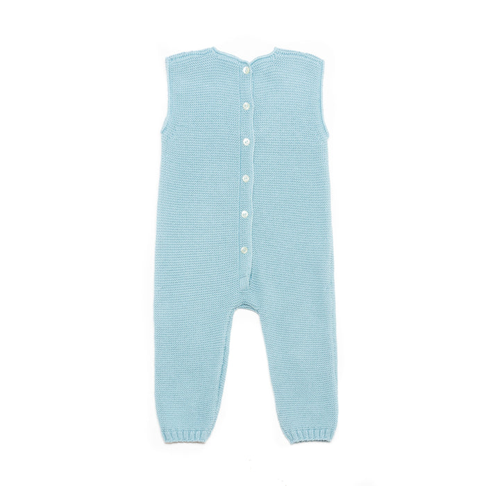 Aqua sleeveless baby suit