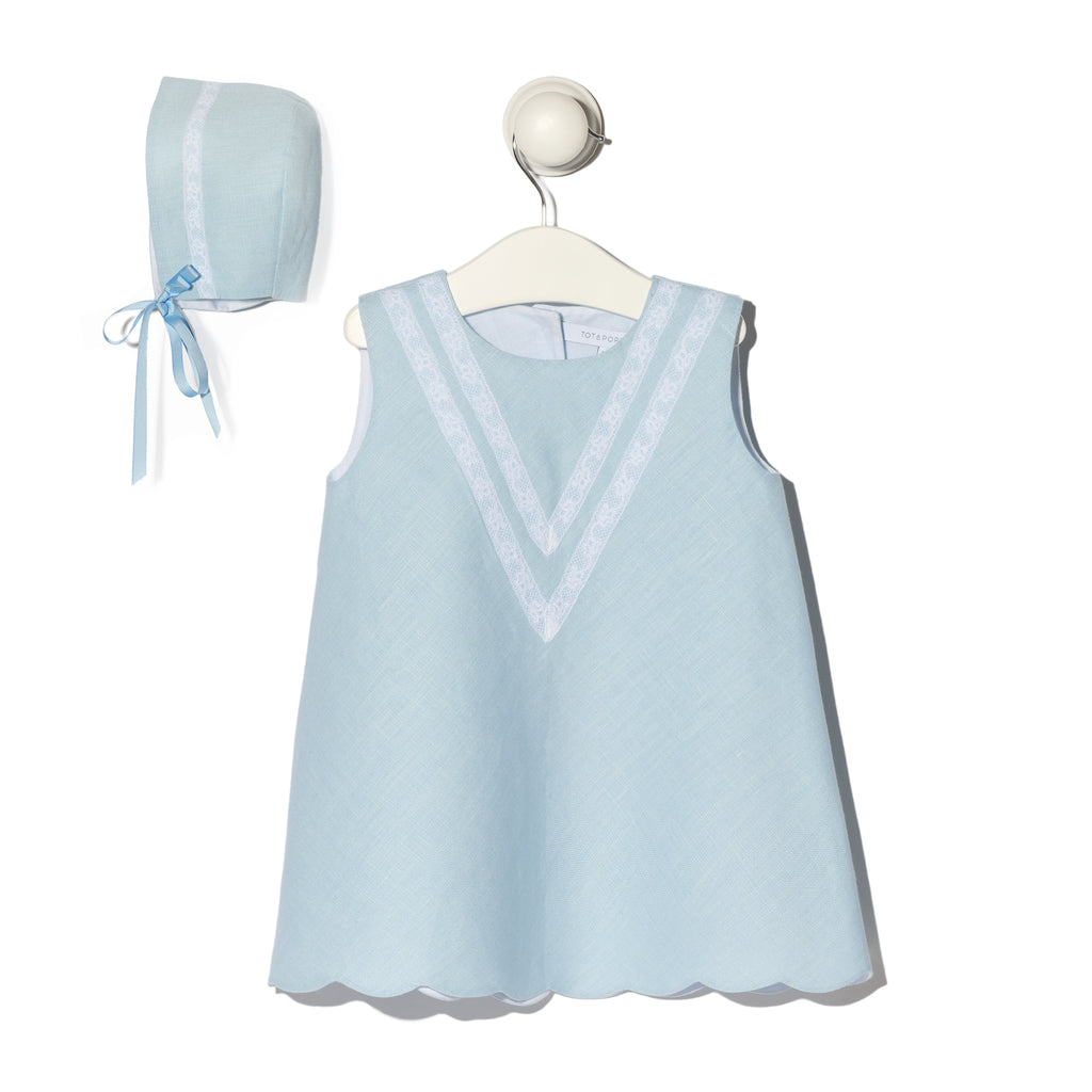 Ibiza light blue linen dress