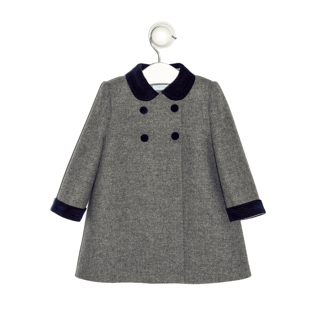 Mayfair English grey and navy coat