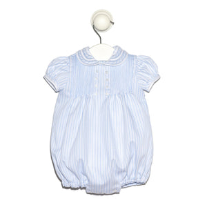 Santiago blue stripes romper